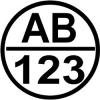 Round Boat Registration Stickers